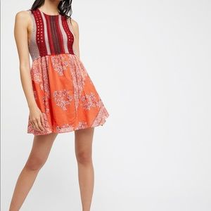 Free People Katie's mini dress size large NWT